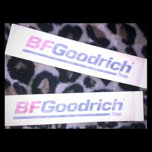 2 BFGoodrich Car Stickers
